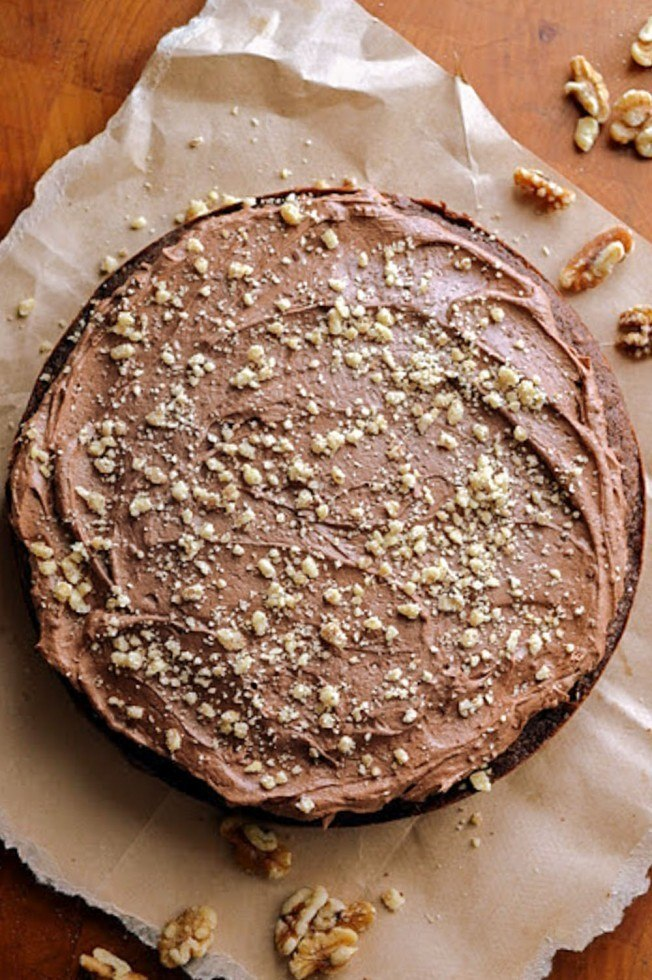 Dark Chocolate Walnut Cake Recipe   HeyFood — heyfoodapp.com