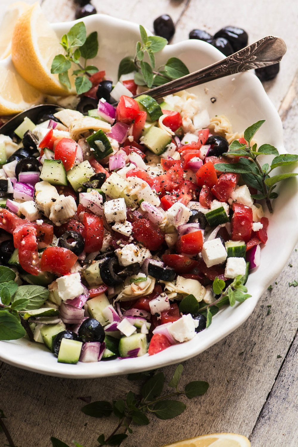 Chopped Greek Salad Recipe | HeyFood — heyfoodapp.com