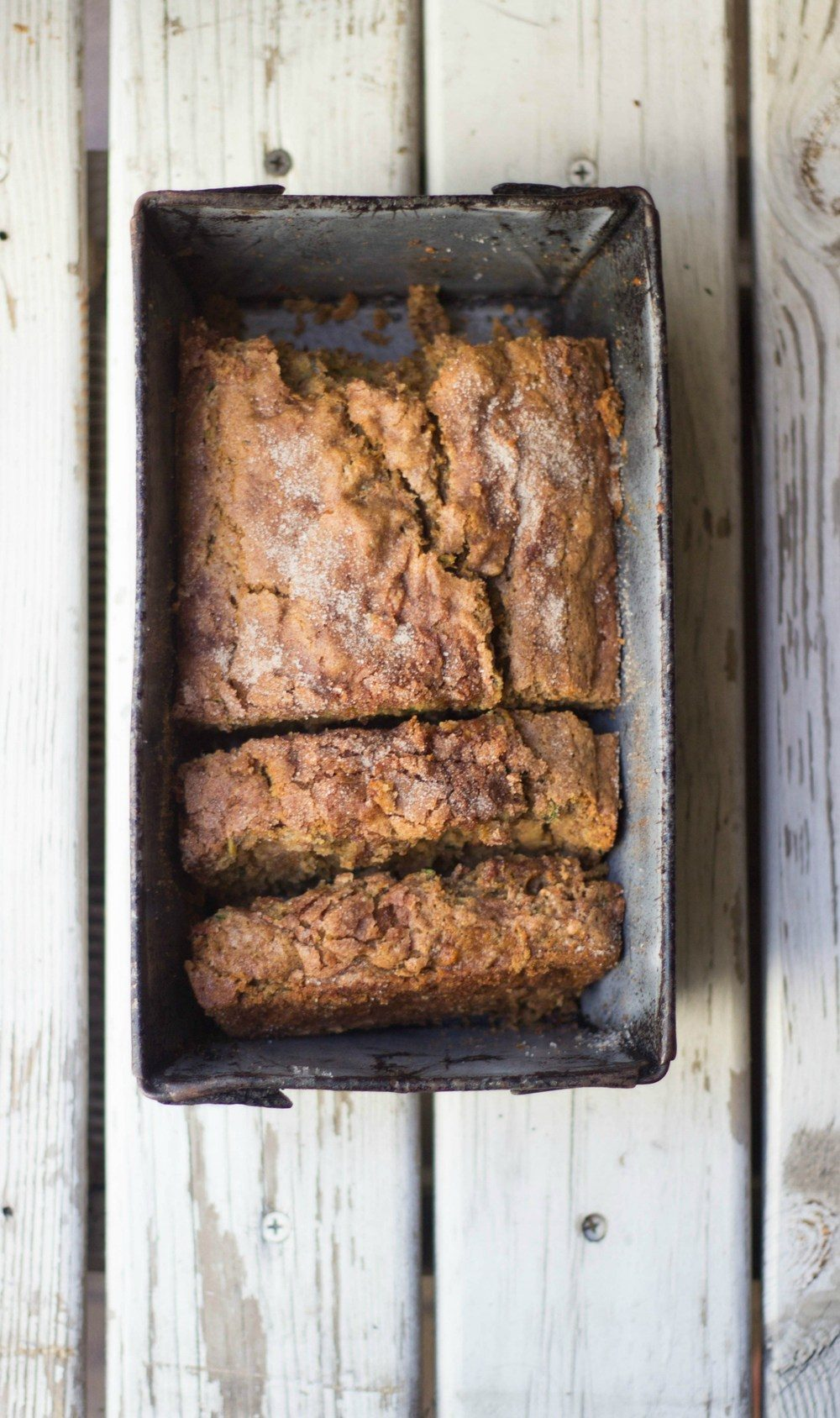 Cinnamon Crunch Zucchini Banana Bread Recipe | HeyFood — heyfoodapp.com