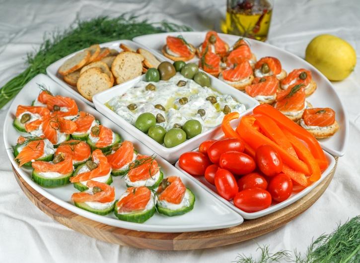 Lox Appetizer Platter Recipe   HeyFood — heyfoodapp.com