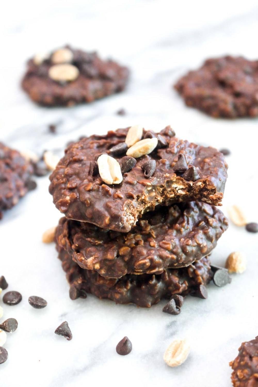 Healthy Chocolate Peanut Butter No Bake Cookies Recipe | HeyFood — heyfoodapp.com