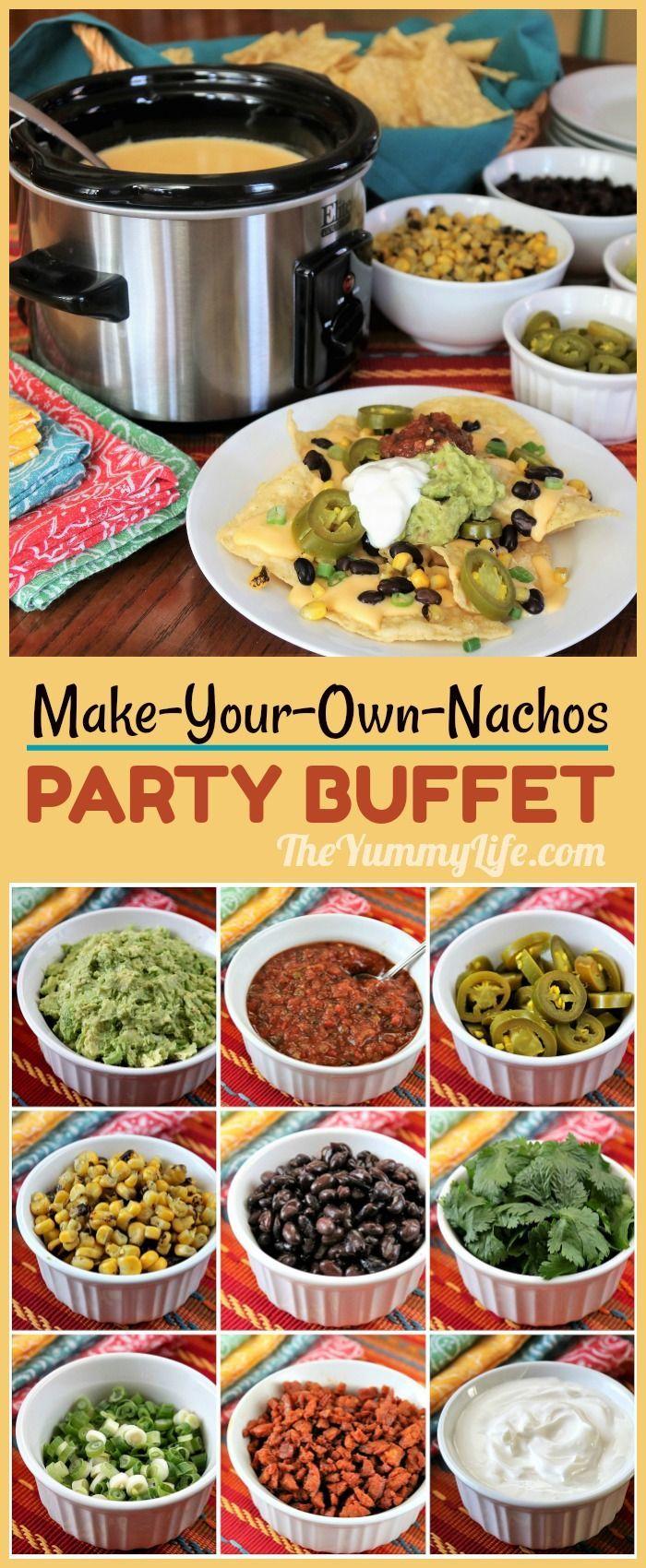 Nacho Bar Buffet Recipe | HeyFood — heyfoodapp.com