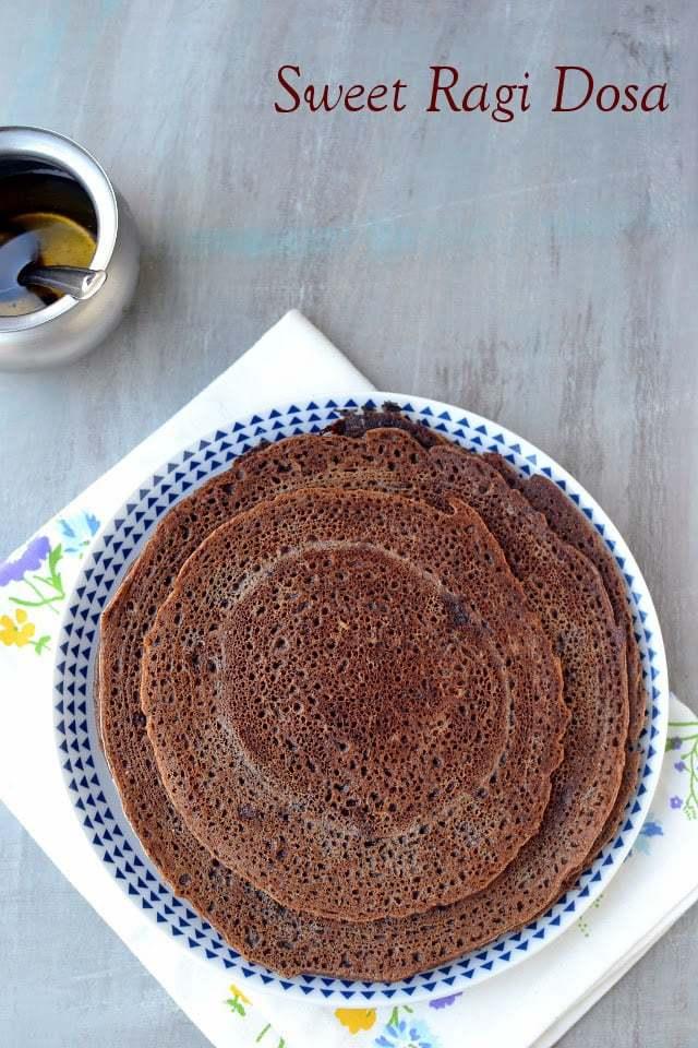 Sweet Ragi Dosa Recipe | HeyFood — heyfoodapp.com