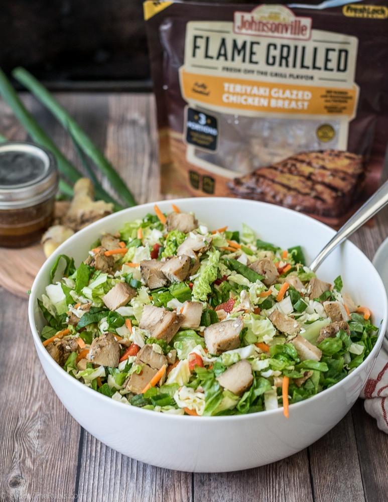 Teriyaki Chicken Chopped Salad Recipe | HeyFood — heyfoodapp.com