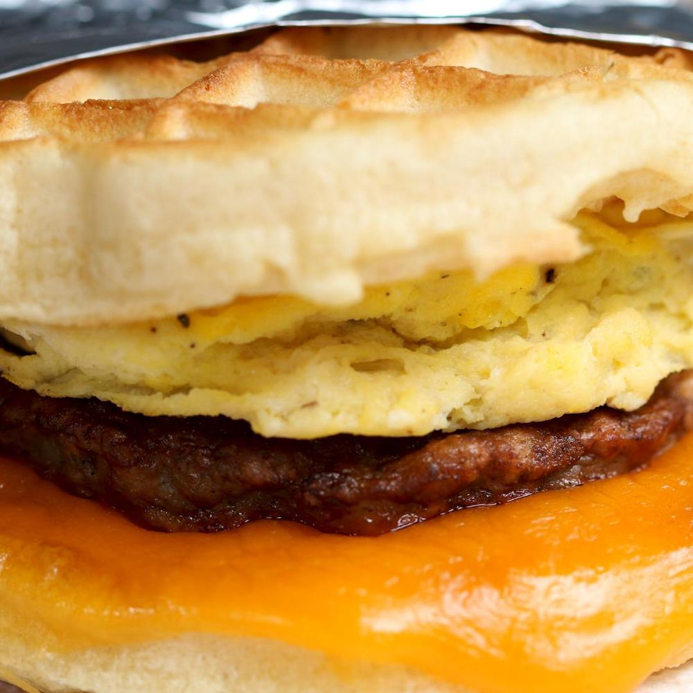 Waffle Breakfast Sandwich Recipe By Tasty Recipe | HeyFood — heyfoodapp.com