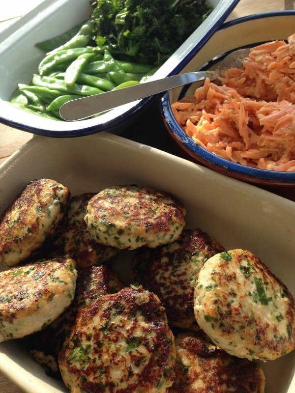 Fish Burgers With Raw Carrot Slaw Recipe | HeyFood — heyfoodapp.com