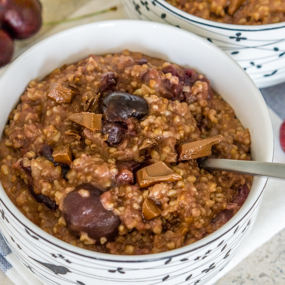Instant Pot Cherry Chocolate Steel Cut Oats Recipe | HeyFood — heyfoodapp.com