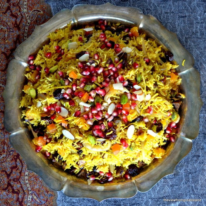 Persian Jeweled Rice Recipe | HeyFood — heyfoodapp.com