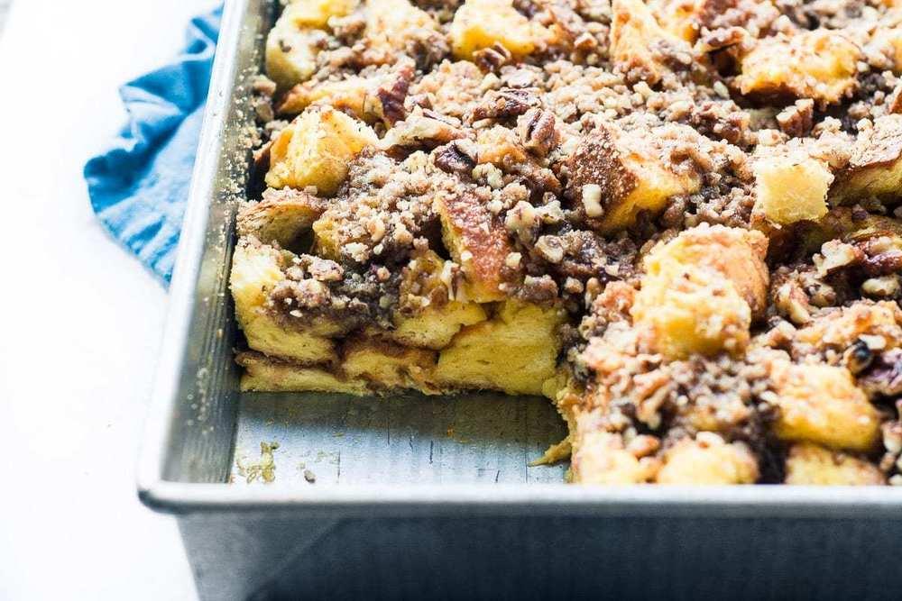 Eggnog Streusel French Toast Casserole Recipe | HeyFood — heyfoodapp.com