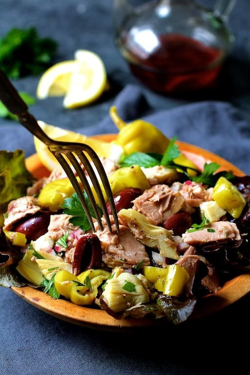 Quick Pantry Mediterranean Tuna Salad Recipe | HeyFood — heyfoodapp.com