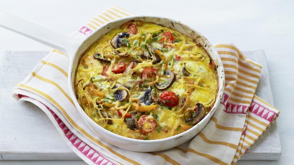 Pasta Frittata Recipe | HeyFood — heyfoodapp.com