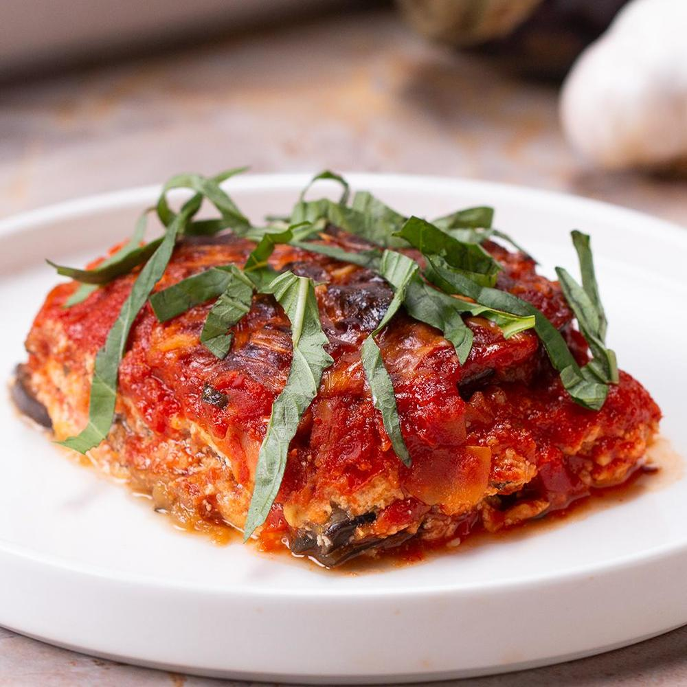 Low-Carb Eggplant Lasagna Recipe by Tasty Recipe | HeyFood — heyfoodapp.com