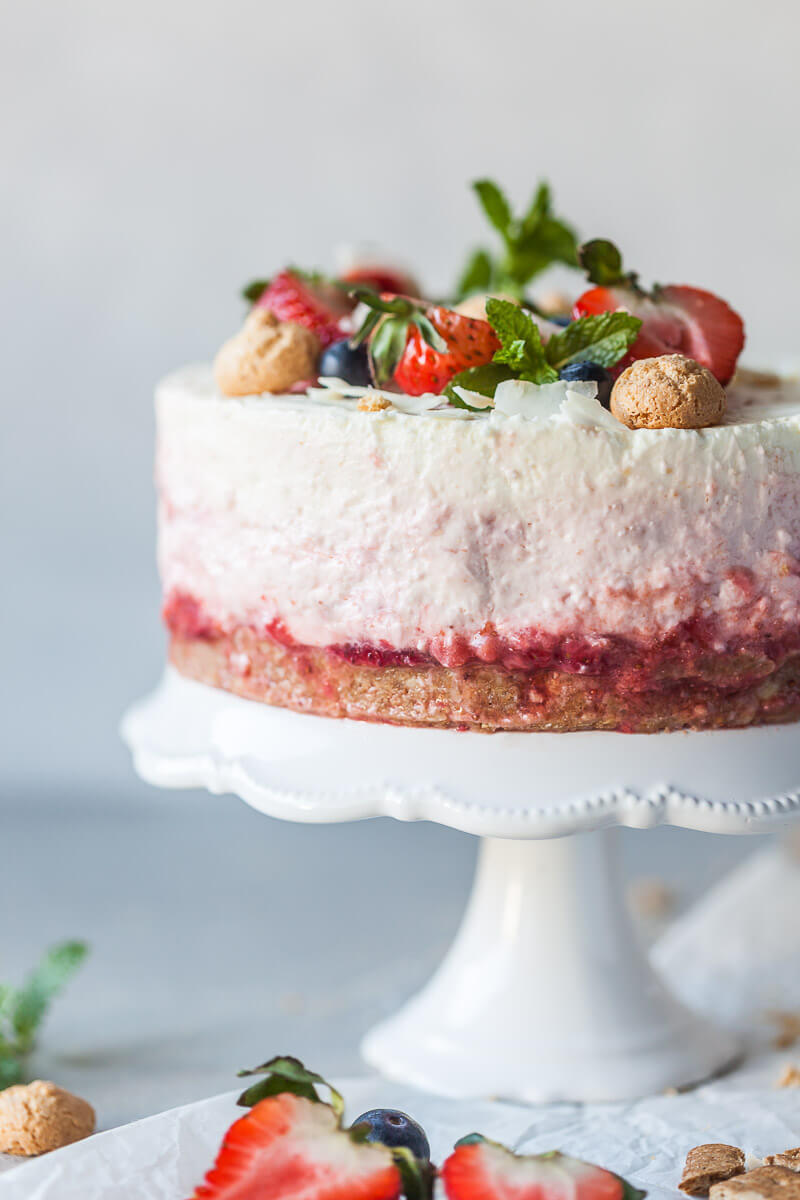 No Bake Strawberry Cheesecake Recipe | HeyFood — heyfoodapp.com
