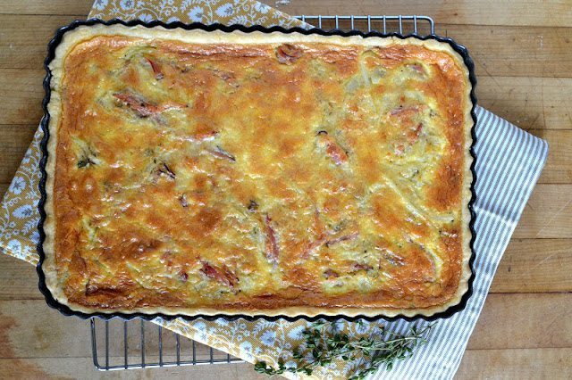 Vidalia Onion and Ham Quiche Recipe | HeyFood — heyfoodapp.com