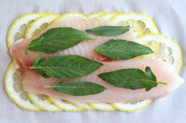 Roberta's Lemon Herb Fish (in parchment paper) Recipe | HeyFood — heyfoodapp.com