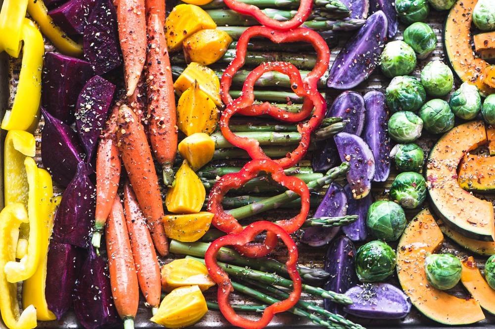 Easy Roasted Rainbow Vegetables Recipe   HeyFood — heyfoodapp.com