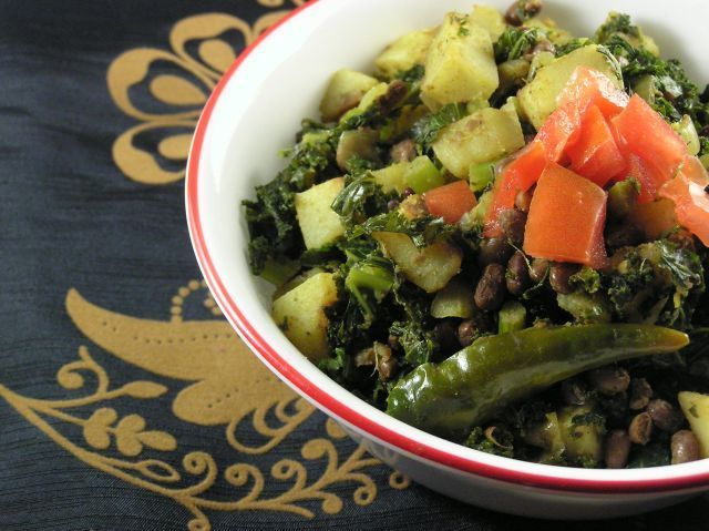 Kale, Adzuki Beans & Potato Curry Recipe | HeyFood — heyfoodapp.com