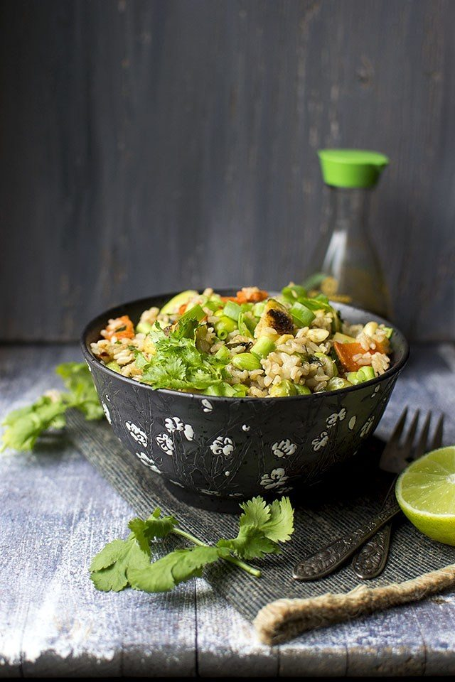 Brussel Sprouts Fried Rice Recipe | HeyFood — heyfoodapp.com
