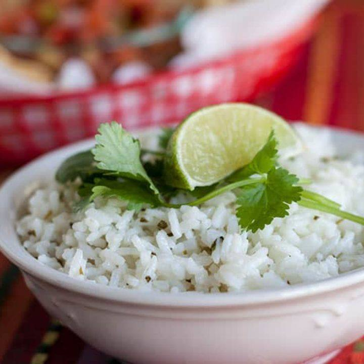 Chipotle's Cilantro Lime Rice in the Pressure Cooker Recipe | HeyFood — heyfoodapp.com