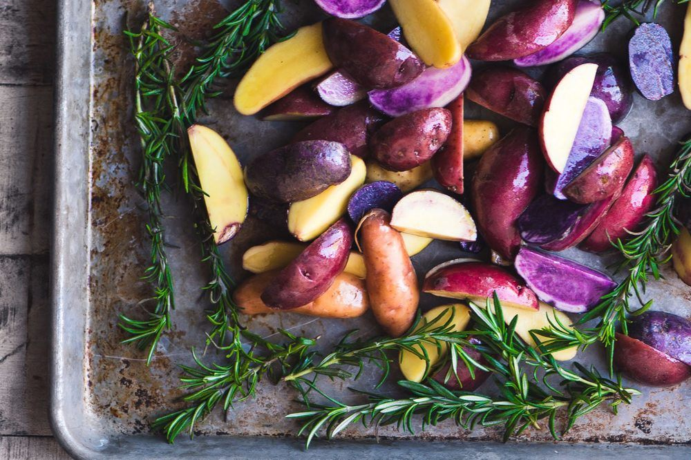 Rosemary Roasted Rainbow Potatoes Recipe | HeyFood — heyfoodapp.com