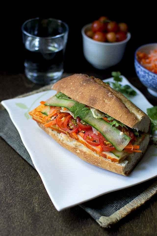 Vegan Bánh mì Sandwich Recipe | HeyFood — heyfoodapp.com