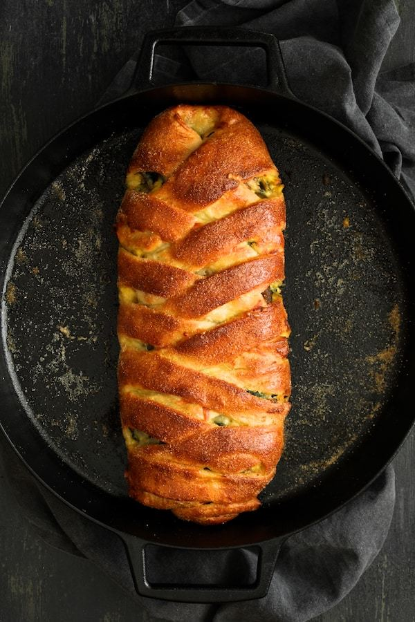 Savory Breakfast Strudel with Eggs Sausage and Swiss Chard Recipe | HeyFood — heyfoodapp.com