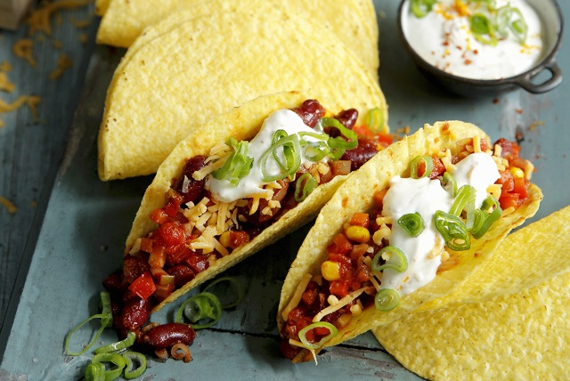 Corn And Kidney Bean Tacos Recipe | HeyFood — heyfoodapp.com