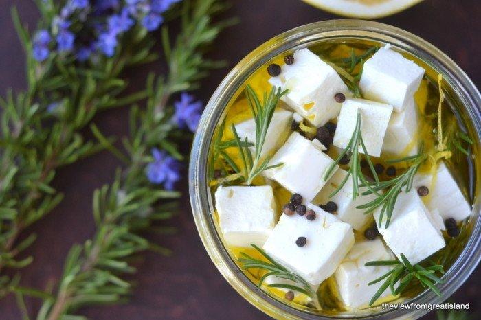 Marinated Feta with Grapefruit and Rosemary Recipe | HeyFood — heyfoodapp.com