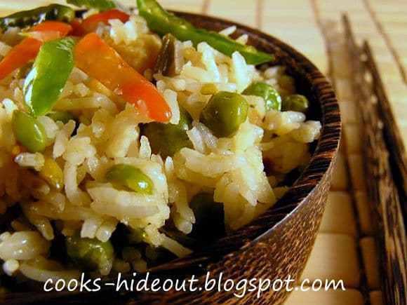 Spicy Thai Fried Rice with Sugar Snap Peas Recipe   HeyFood — heyfoodapp.com