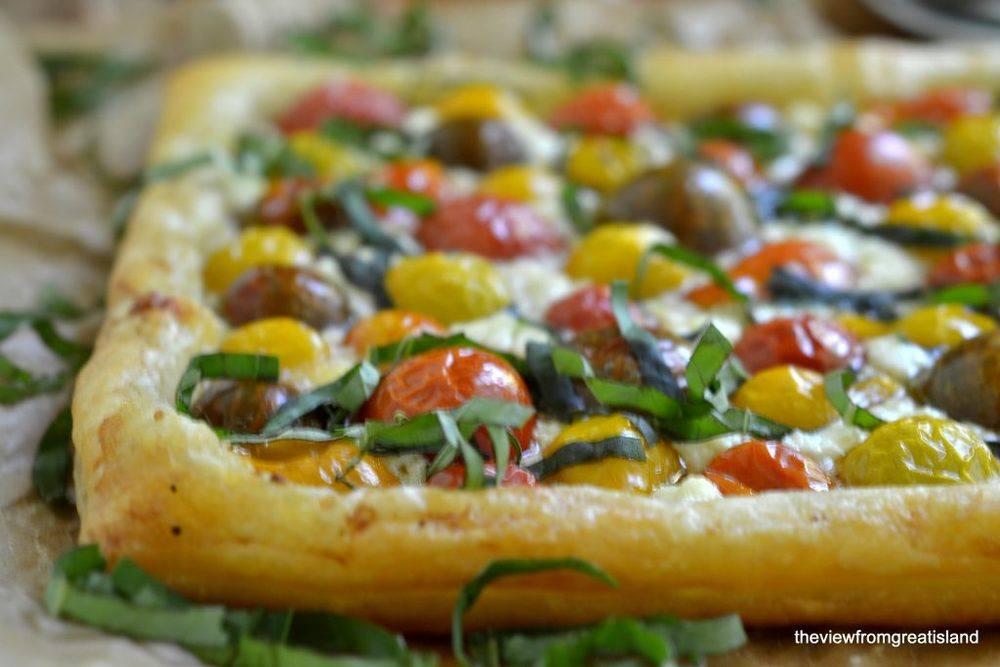 Minimal Monday: Heirloom Cherry Tomato Tart Recipe | HeyFood — heyfoodapp.com