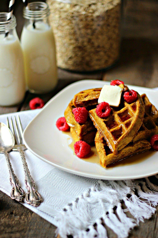 Pumpkin Flax Waffles Recipe | HeyFood — heyfoodapp.com