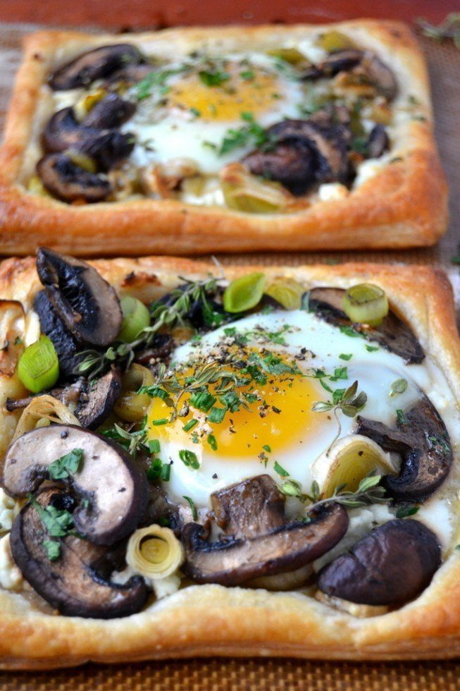 Mushroom and Egg Breakfast Pastries Recipe | HeyFood — heyfoodapp.com