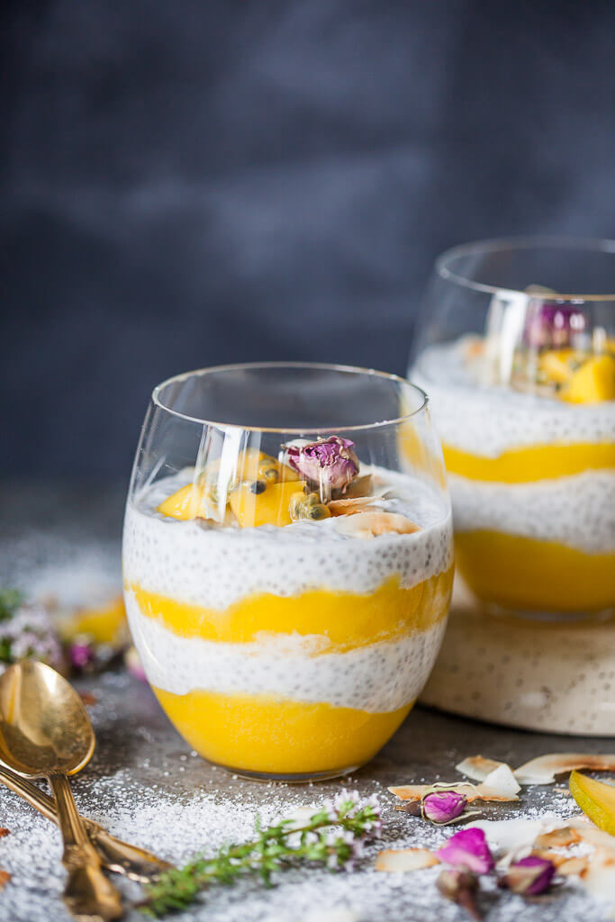 Coconut Milk Mango Chia Pudding Recipe | HeyFood — heyfoodapp.com