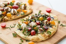 Grilled Caprese Naan Pizza Recipe | HeyFood — heyfoodapp.com