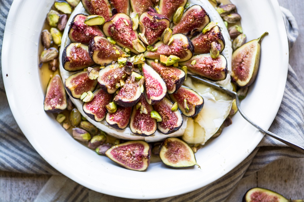 Easy Bake Brie with Figs and Honey Recipe | HeyFood — heyfoodapp.com