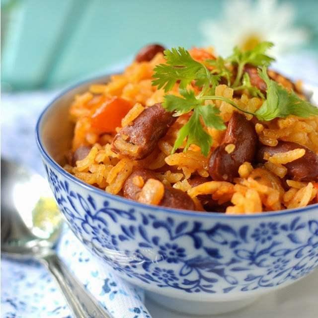Rice & Beans (Moro de Habichuelas) Recipe | HeyFood — heyfoodapp.com