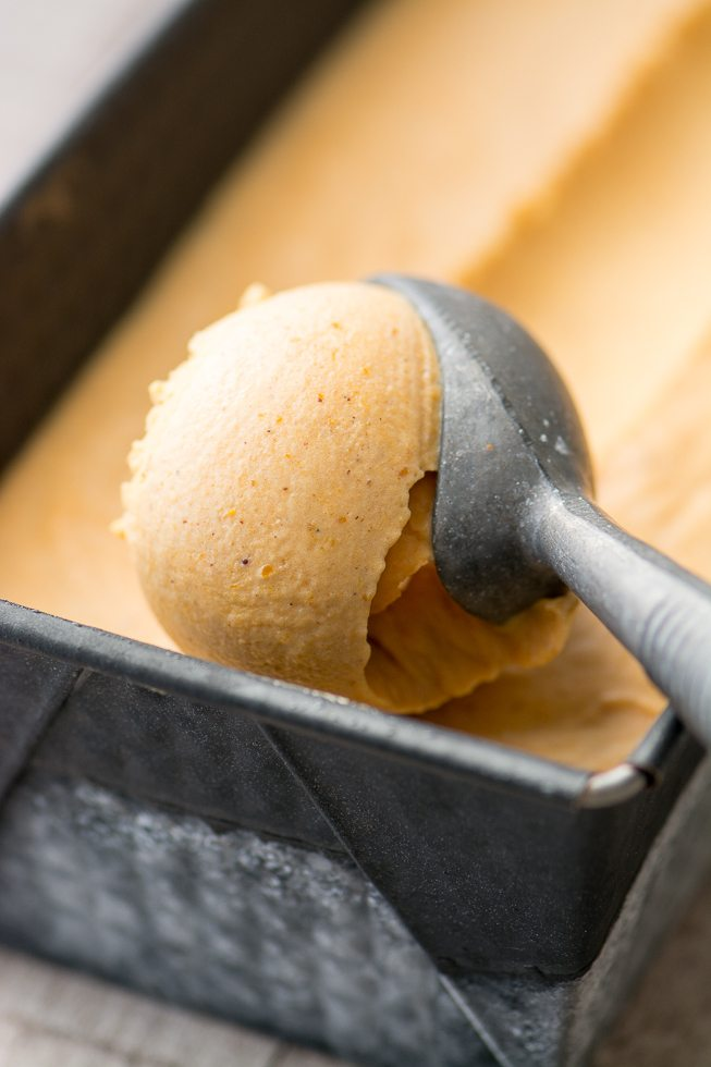 No Churn Pumpkin Spice Ice Cream Recipe | HeyFood — heyfoodapp.com