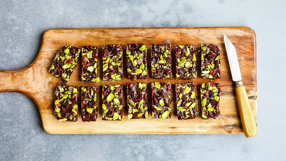 Cranberry and Pistachio Fudge Recipe | HeyFood — heyfoodapp.com