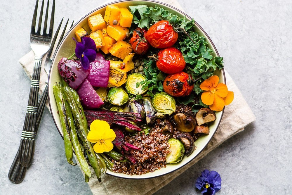 Roasted Veggie Winter Bliss Bowl and 15 other blissful recipes Recipe | HeyFood — heyfoodapp.com