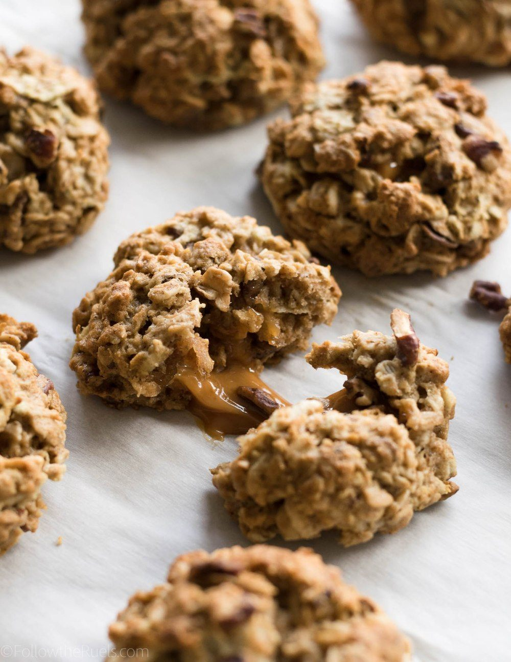 Caramel Apple Oatmeal Cookies Recipe | HeyFood — heyfoodapp.com