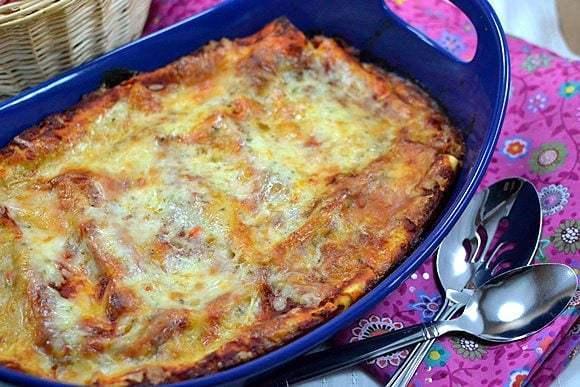 Baked Manicotti Recipe | HeyFood — heyfoodapp.com