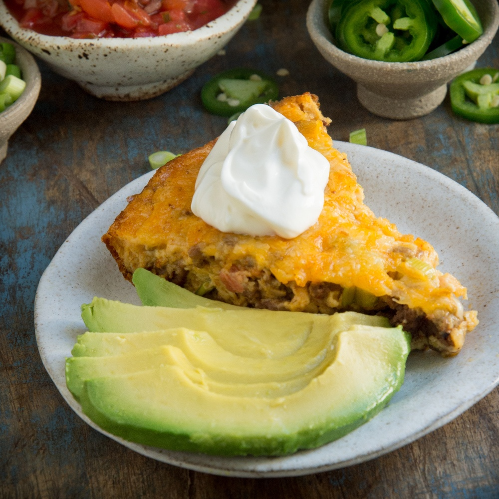 Low-Carb Crustless Taco Pie Recipe | HeyFood — heyfoodapp.com