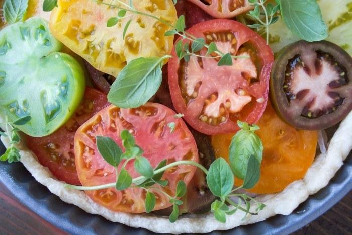 Southern Tomato Pie with Fried Onions Recipe | HeyFood — heyfoodapp.com