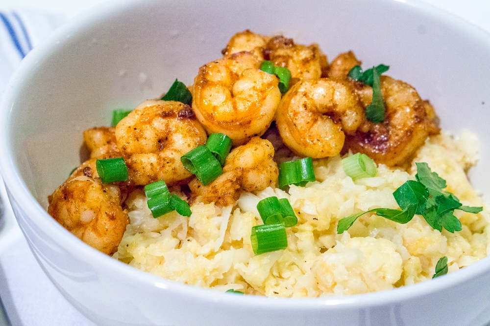 "Shrimp and Cauliflower ""Grits"" Recipe 