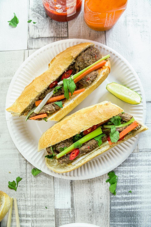 Vietnamese Lemongrass Beef Baguette Recipe | HeyFood — heyfoodapp.com