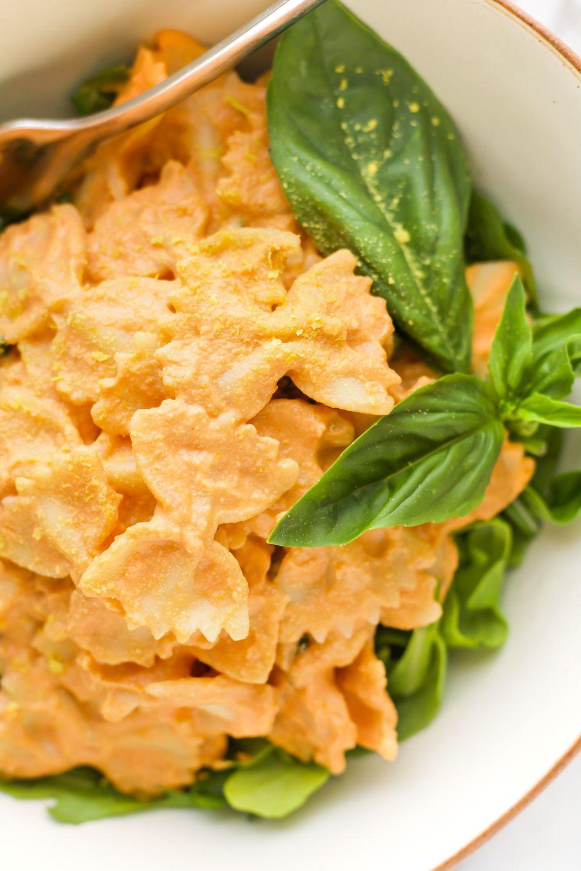 Vegan Tomato Basil Cream Pasta Recipe | HeyFood — heyfoodapp.com