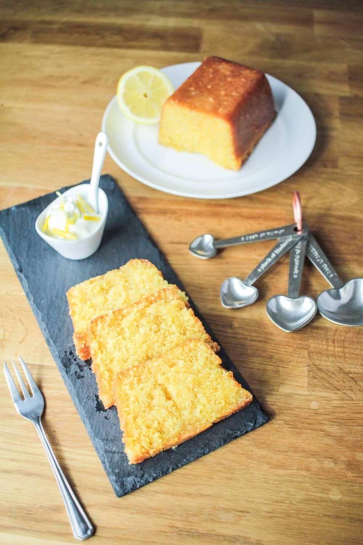 Lemon Drizzle Polenta Loaf Cake  Recipe | HeyFood — heyfoodapp.com