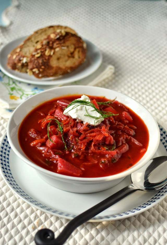 Borscht -- Russian Beet & Vegetable Soup Recipe | HeyFood — heyfoodapp.com