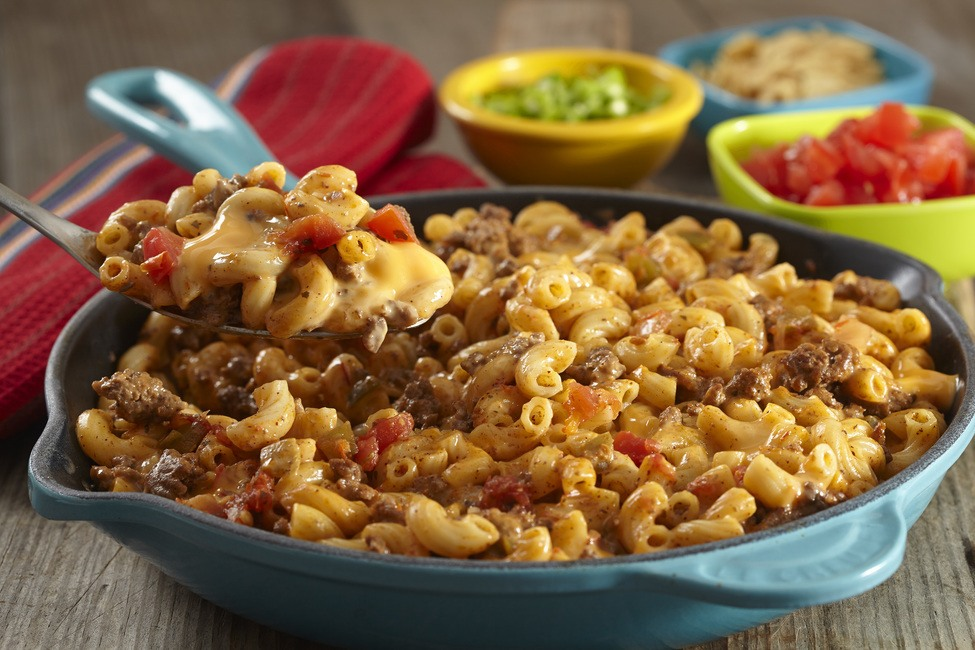 VELVEETA® Taco Mac & Cheese Recipe | HeyFood — heyfoodapp.com