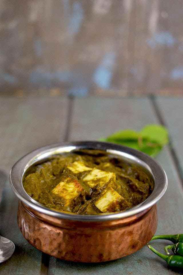Gongura Paneer (Paneer with Sorrel Spinach) Recipe | HeyFood — heyfoodapp.com
